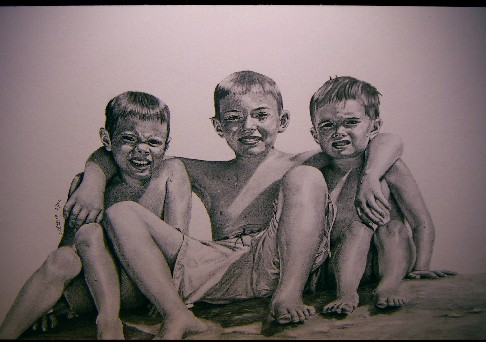The Tukiainens (Pencil, 50 x 35 cm), 2004